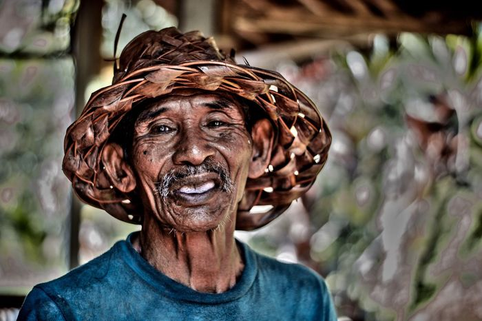 INDONESIA Bali Tegalalang Oldman Eyes Balinese Life Trip Photo