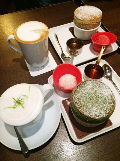 Souffle Green Tea Flavor Woolong Tea Flavor Yummy Earl Grey Tea Coffee Sweet Nice Chat