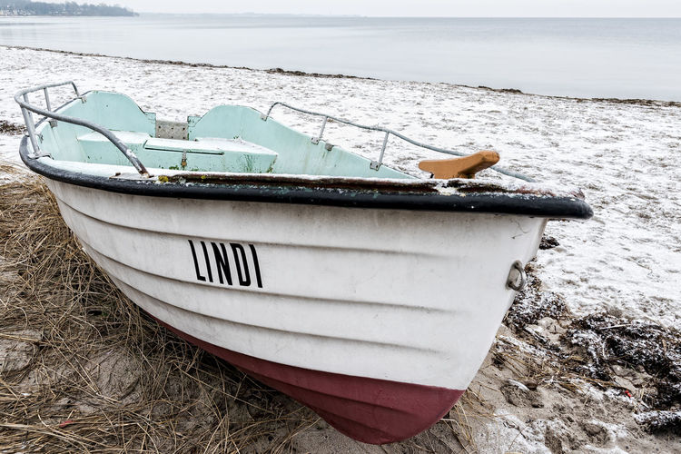 Wintertime Baltic Sea Beach Day Horizon Over Water Moored Nature Nautical Vessel No People North Germany Outdoors Rowboat Sand Schleswig-Holstein Sea Snow Transportation Water Wintertime