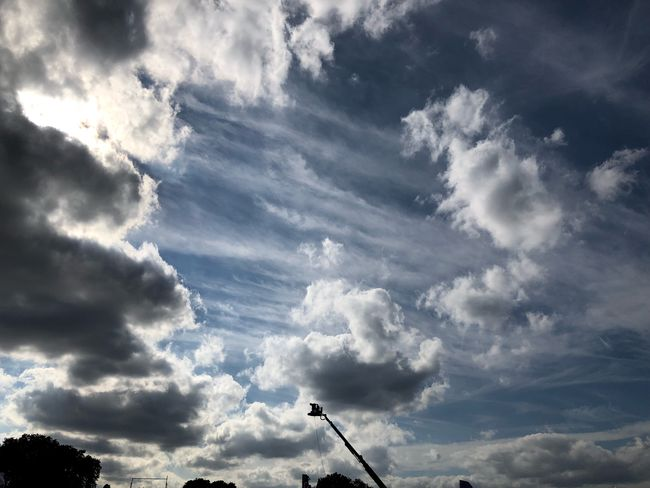 Cameraman for @bbc recording @bbcradio2 #festivalinaday #MobileSky #clouds #sky Cloud - Sky Sky Low Angle View Nature Day Beauty In Nature Outdoors