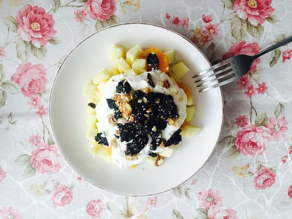 Dessert with fruits and wiped cream Fruits Cream My World Of Food Dessert My Favorite Breakfast Moment