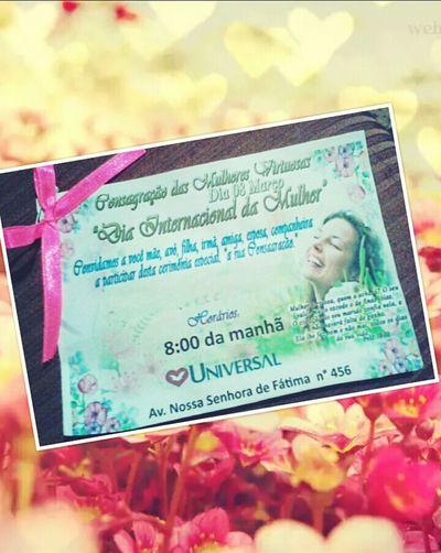 Brazil Jesus Christ Jesuscristo Woman Consagração Diainternacionaldamulher IURD Universal