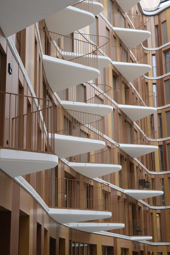 Full frame shot of staircase in building