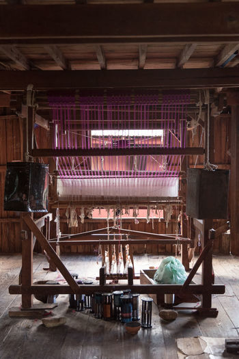 Interior of machine