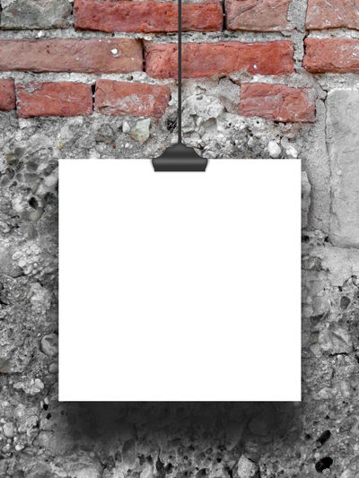Single hanged square frame on brick wall and concrete wall background Background Blank Brick Wall Canvas Clip Concrete Weathered Wall Empty EyeEm Gallery Frame Image Paper Photo Photography Picture Portfolio Poster Print Product Photography Product Placement Red Shades Of Grey Square Frame Tag Template White
