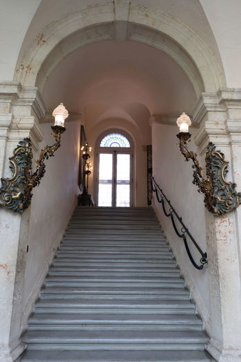 Historical Building Miami Vizcaya Museum Architecture Built Structure Day Historic Indoors  Museum No People Railing Staircase Steps And Staircases vanishing point Vizcaya Vizcaya Gardens Vizcaya Miami Vizcaya Museum And Gardens Vizcayamuseumandgardens