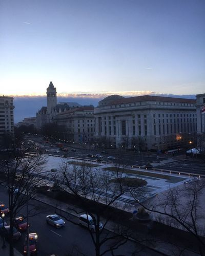 DC morning America Washington, D. C. Architecture Built Structure Building Exterior Sky Travel Destinations City Cityscape