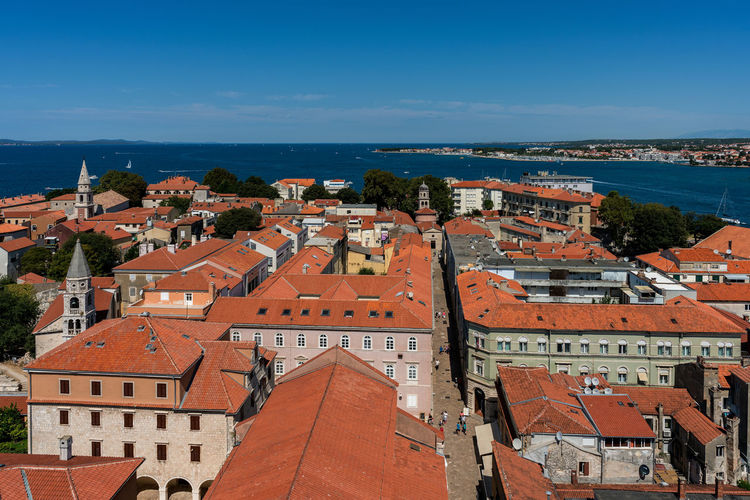 City of Zadar. City Croatia Zadar Zadar,Croatia Architecture Blue Building Building Exterior Built Structure City Cityscape Crowd Crowded Day High Angle View House Nature Old Outdoors Residential District Roof Roof Tile Sea Sky Town TOWNSCAPE Water