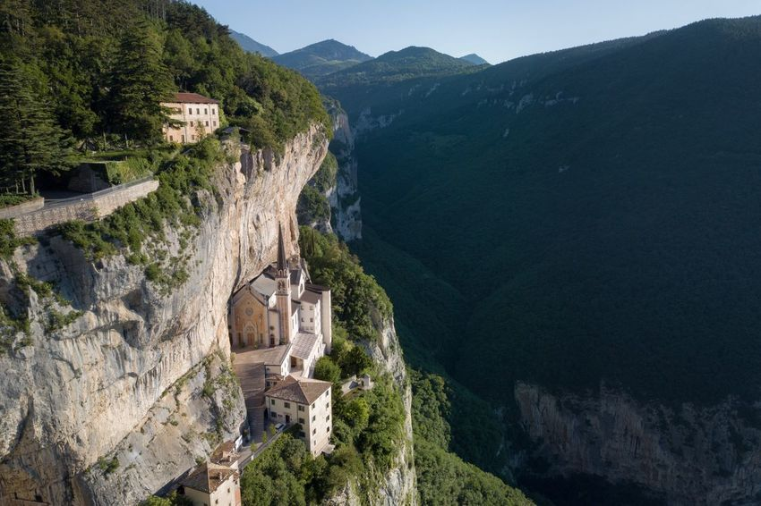Sanctuary nestled in the mountains ⛰ Italy Scenics - Nature Mountain Tree Beauty In Nature Plant Tranquility Non-urban Scene Architecture Travel Nature Mountain Range History Tranquil Scene Environment High Angle View Land No People
