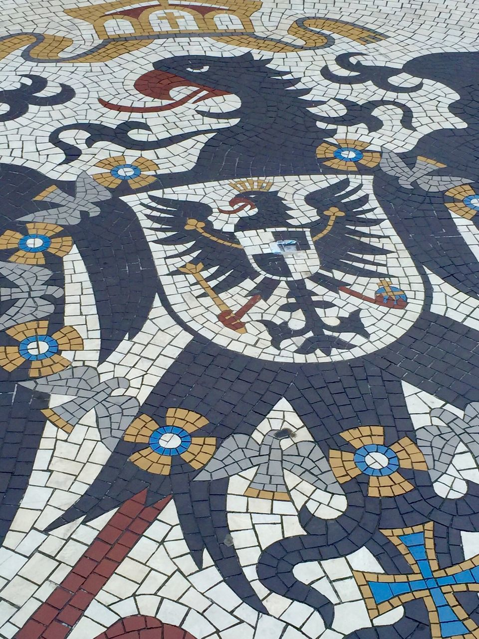Coat Of Arms On Pavement