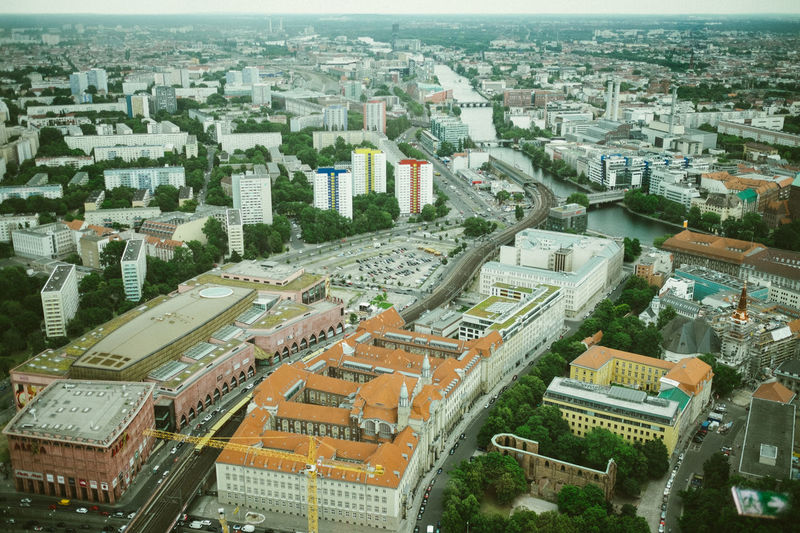 Aerial View Architecture Berlin Building Exterior Capture Berlin City City Life Cityscape Day Deutschland Germany High Angle View Outdoors Travel Destinations TV Tower