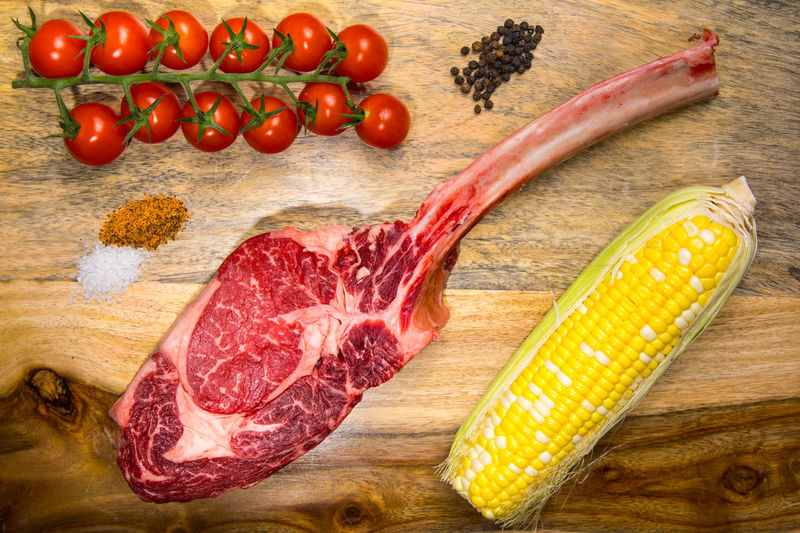 Wagyu Tomahawk steak BBQ Beef Close-up Corn Cutting Board Food Food And Drink Freshness Garnish Healthy Eating High Angle View Ingredient Meat Preparation  Preparing Food Raw Food Red Meat Still Life Table Tomahawk Steak Vegetable Wagyu Wagyu Steak Wellbeing Wood - Material The Still Life Photographer - 2018 EyeEm Awards
