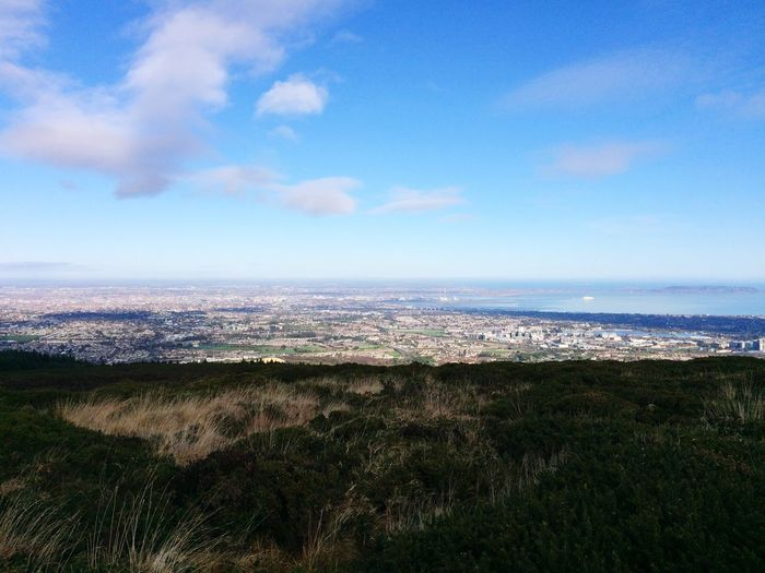 Dublin Ireland Dublin Bay February Sky Cityscape Landscape Scenics Nature Building Exterior Tranquility City Outdoors Aerial View Miles Away