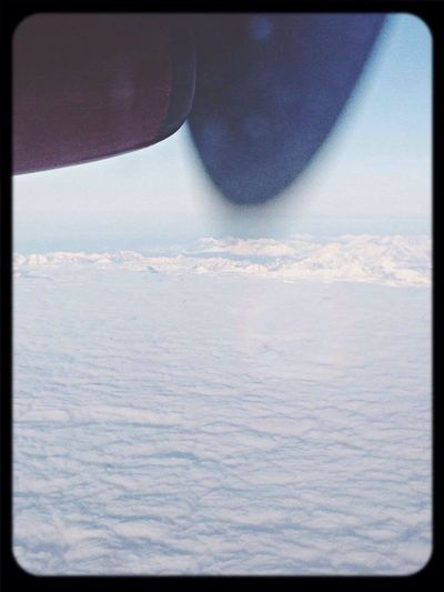 Greenland From An Airplane Window
