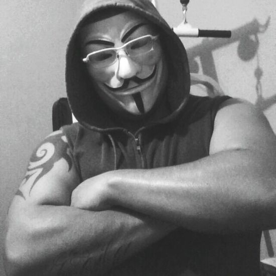 GymLife Gymlove GymTime Black And White Bad Anonymous Anonymous Mask