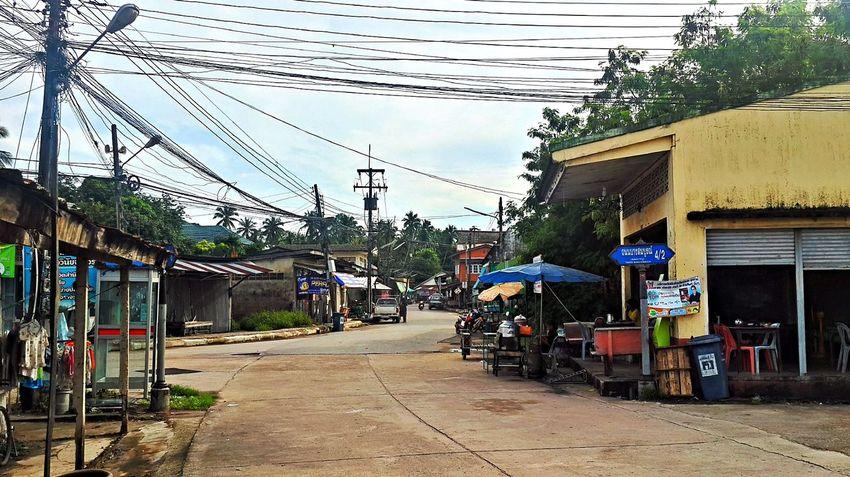 Pak Nam Lang Suan Village Built Structure Chumphon Day Outdoors Pak Nam Lang Suan Power Line  Thailand Village View