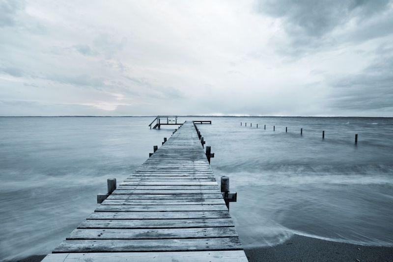 Ocean Ocean View Melancholy Melancholic Landscapes Melancholic Feelings Emotions Path Pathway Catwalk Water Lake Lake View Sea Seaside Travel Travelling Vacation Vacations Monochrome