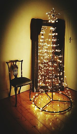 Christmas tree vintage Vintage Christmas Tree Lights Chair Mirror