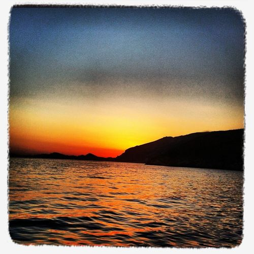Sundown in Croatia near Mlini Cavtat
