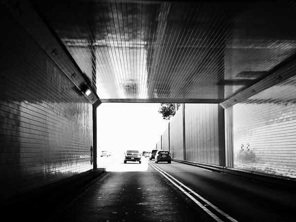 Shades Of Grey Black And White Black & White Tunnels Light At The End Of The Tunnel Blackandwhite Photography Transportation The Way Forward Car Built Structure Land Vehicle Road Tunnel Mode Of Transport Architecture