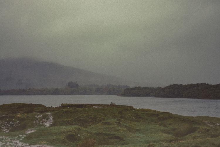 Beauty In Nature Cloud - Sky Connemara Connemara National Park Day Galway Grass Area Haze Ireland Ireland🍀 Lake View Landscape Mountain Nature No People Outdoors Rain Scenics Sky Tree Water