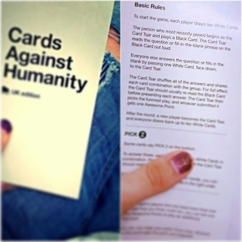the person who most recently pooed begins.. Cardsagainsthumanity Tgithursday