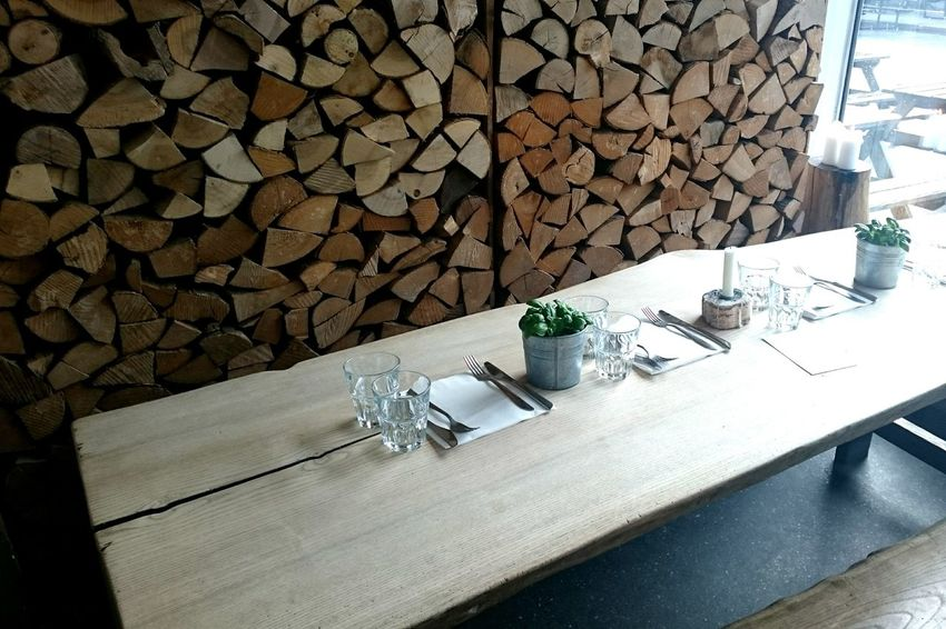 Restaurant Table Stack Chair Wood - Material No People Day Outdoors