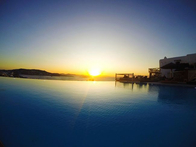 Sunset Outdoors Reflection Tranquility Silhouette Sunlight Sun Water Pool Infinity Infinity Pool The Week On EyeEm Throughmyeyes Paint The Town Yellow Go Pro Photography Go Pro Carefree Happiness Landscape_Collection Sunset_collection Sunset Silhouettes Mykonos Greece No People Sky Been There. Done That. Lost In The Landscape Perspectives On Nature Focus On The Story Adventures In The City