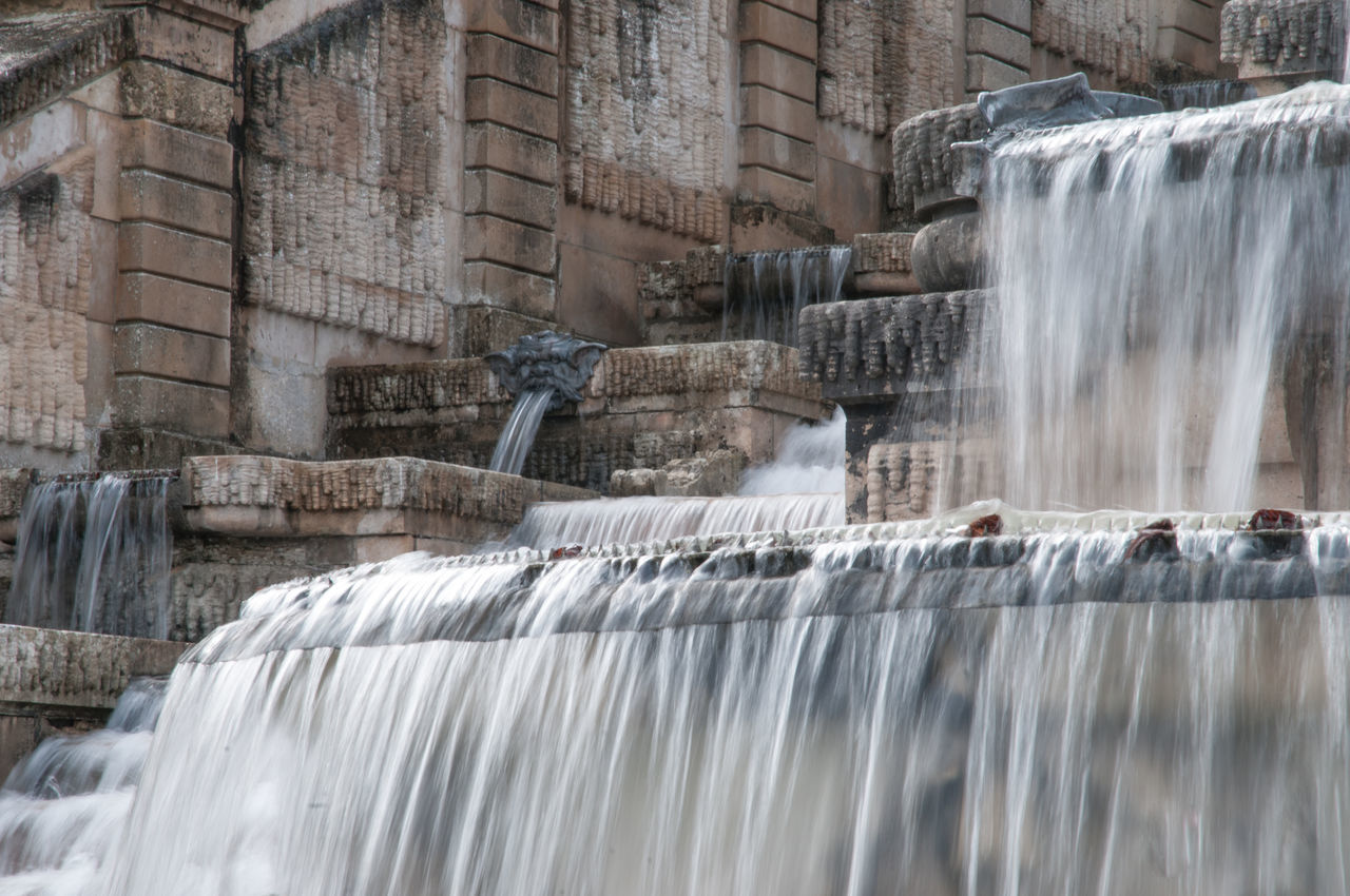 motion, long exposure, waterfall, flowing water, blurred motion, water, speed, fountain, splashing, hydroelectric power, dam, spraying, day, fuel and power generation, no people, running water, nature, outdoors, built structure, architecture, irrigation equipment, hot spring