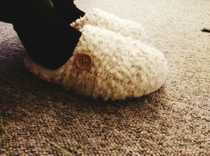 Warm Slippers For The Winter Indoors  Close-up Human Body Part People Day Wintertime Warm Slipper Slipper  Wool Slipper Foots I Like Warm Feet