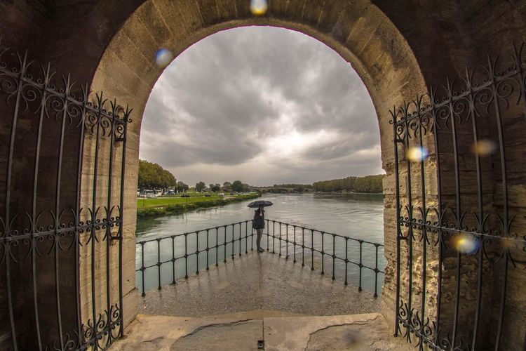 Gate bridge against sky