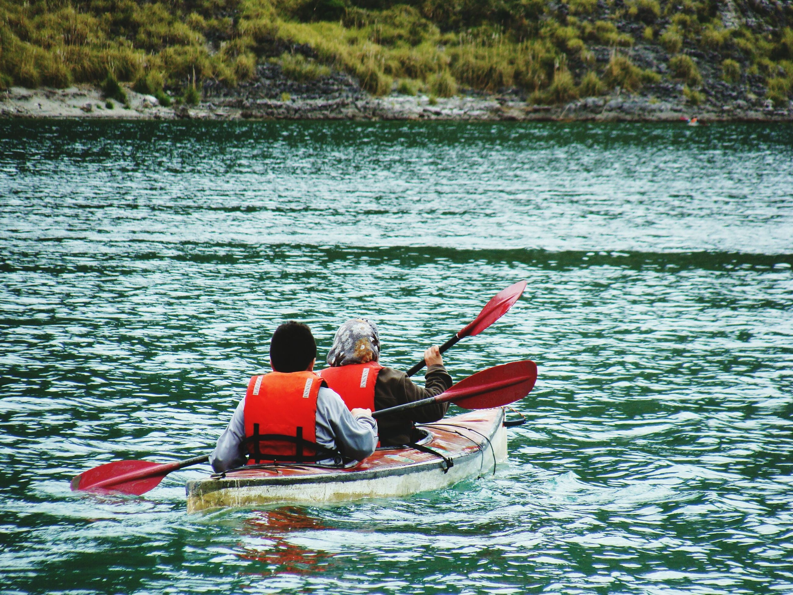 water, nautical vessel, transportation, boat, mode of transport, waterfront, men, lifestyles, leisure activity, rippled, sea, tranquility, oar, nature, tranquil scene, beauty in nature, sailing, scenics