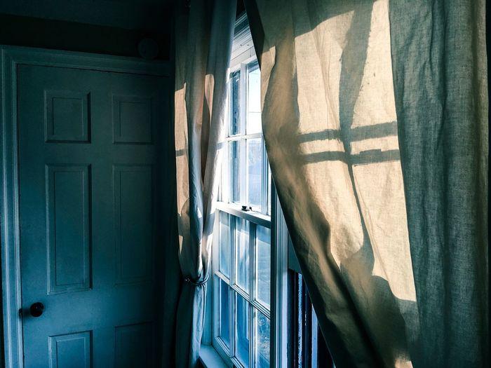 Sunlight through window at home