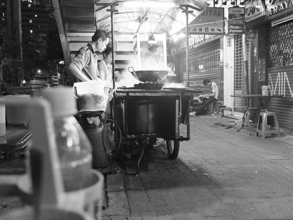 EyeEmNewHere Hawker Food Thailand The Week On EyeEm Travel Photography Blackandwhite Men Real People Street Photography Business Stories