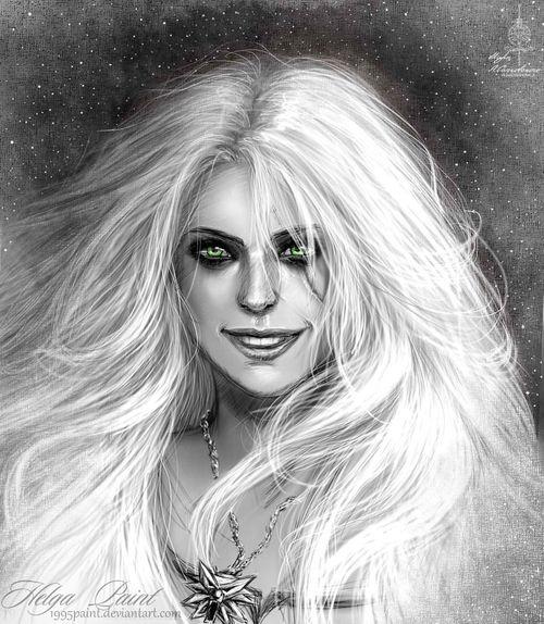 Art Ciri Cirilla Fantasy Girl Portrait Smile :) Thewitcher Thewitcher3 Thewitcher3wildhunt
