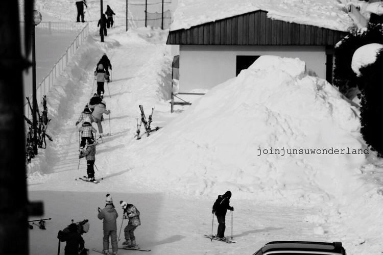 홋카이도 모노 흑백 겨울 눈 아이 Monochrome Blackandwhite Winter Snow