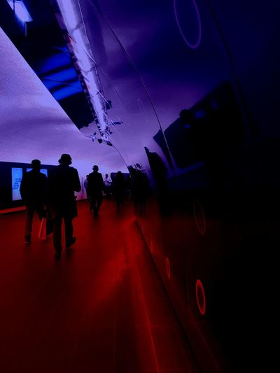For the fun, for the play again... Silhouette Night People Cut And Paste Effects & Filters Creativity Art Is Everywhere Samsung Galaxy S7 Edge Digital Composite From My Point Of View Capture The Moment Transformation Blue Red Atmospheric Scene Atmospheric Light Subway Subway People Subway Metro Paris RER A Charles De Gaulle Etoile Paris ❤ France🇫🇷