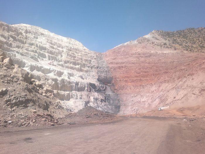 Doğanın muhteşemliği; kireç-kömür-toprak