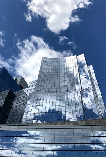 Skyhigh Sky Cloud - Sky Low Angle View Architecture Building Exterior Built Structure The Architect - 2018 EyeEm Awards Building No People City Sunlight Tall - High Day Glass - Material Modern Skyscraper