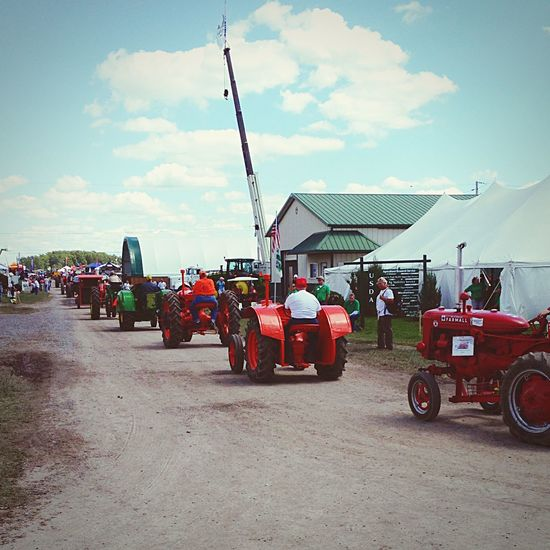 Tractor Parade Tractor Parade Farm Life Agriculture Outdoors People Watching Hanging Out Farming Farm Driving