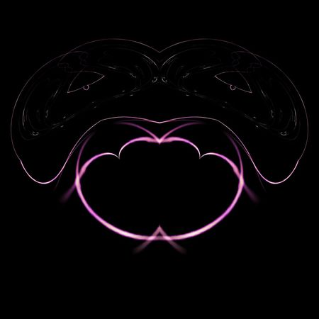 Fantasy Lighting Bulbs จินตนาการศิลปะหลอดไฟ Lamp Art Fantasy Lighting Bulbs Black Background Love Pink Color Heart Shape Abstract Particle Molecule Droplet Glitter Valentine's Day - Holiday Sequin Lip Gloss Candy Heart Valentine Card Blooming Petal Glittering Dew Pollen Symmetry