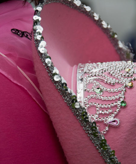 Cancer Charity Cowboy Hat Pink RaceForLife Rhinestone Sequins Sparkling Pastel Power