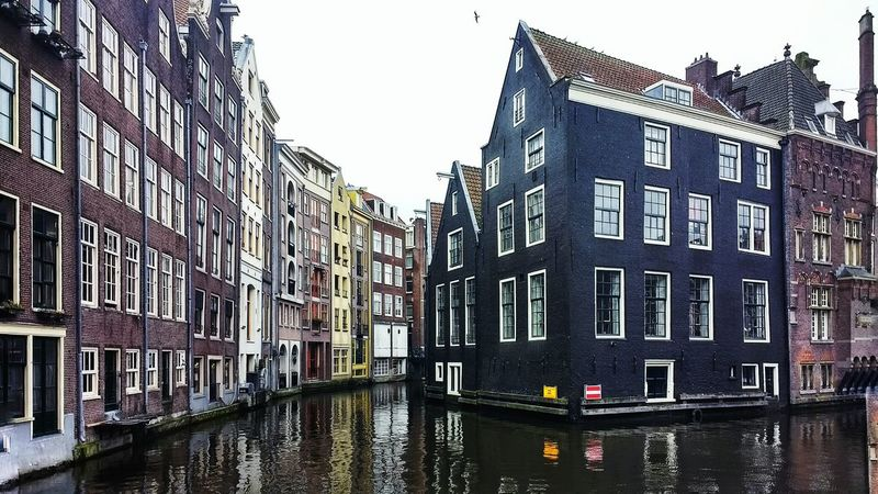 Building Exterior Built Structure Architecture Outdoors City Travel Destinations Water No People Amsterdamcity Reflection Amsterdam Canal Amsterdam Architecture Colors EyeEmNewHere