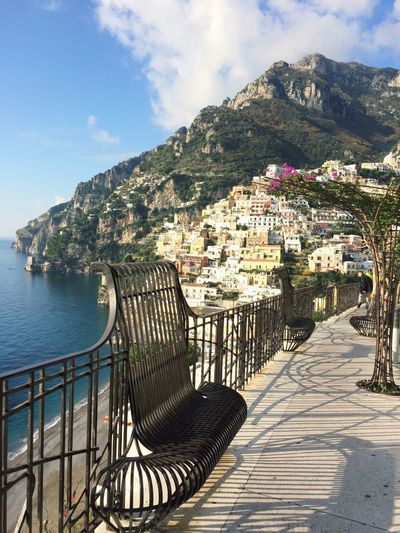 Welcome to Positano 🇮🇹The best panoramic Italy Food Pizza Mozzarella Eat Sun See Sky House Colors