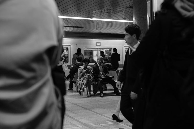 spotted City Life Eye Contact Japan Layers Leica Platform Spotted Summicron Tokyo Tokyo Diary Train Travel Photography Ultimate Japan Waiting