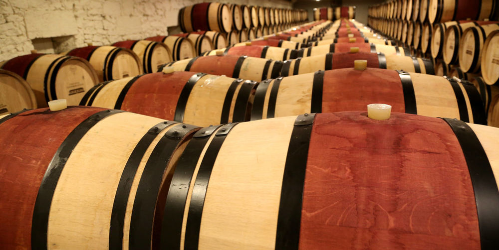 Cellar Wine Cellar Indoors  Wine Cask Barrel Drink Food And Drink Refreshment Wine In A Row Winery Winemaking Large Group Of Objects Alcohol Cylinder Wood - Material Warehouse Business Domestic Room Building