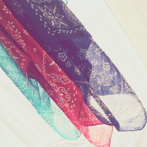 Bandana Colors Casual Laundry Handkerchief Laundryday Sheer