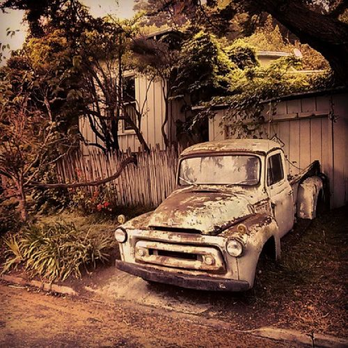 Old truck in Bolinas Marin County Super Retro