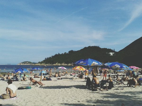 beautiful too-hot day for the beach