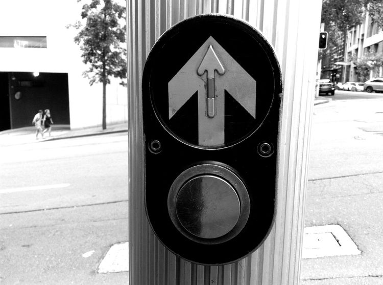 Australia Black And White Button Close-up Crossing Crosswalk Direction Shootermag Sydney